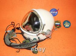 Flight Helmet High Altitude Astronaut Space Pilots Pressured Pilot Helmet XXL 01