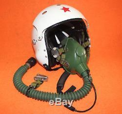 Flight Helmet Mig-29 Air Force Pilot Helmet Size1# XXL Oxygen Mask Used