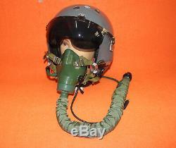 Flight Helmet Naval Aviator Pilot Helmet 1# XXL Oxygen Mask $349