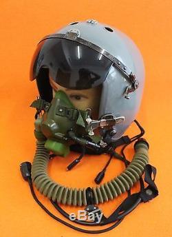 Flight Helmet Naval Aviator Pilot Helmet 1# XXL Oxygen Mask Ym-6m