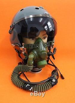 Flight Helmet Naval Aviator Pilot Helmet 2# XXL Box+ (ym-6 Oxygen Mask)