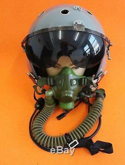 Flight Helmet Naval Aviator Pilot Helmet Oxygen Mask Ym-6m 06016