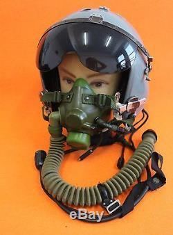 Flight Helmet Naval Aviator Pilot Helmet Qtk-1 Oxygen Mask Ym-6 Helmet Box