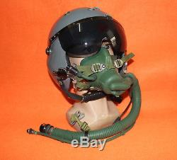 Flight Helmet Naval Aviator Pilot Helmet XXL (ym-9915 Oxygen Mask)
