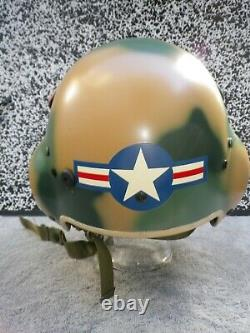 Flight Helmet pilot GENTEX HGU-39 size Regular S. E. A. Camouflage HA tailcode