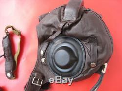 Flight Helmet winter Fighter Pilot Flight Leather Helmet Oxygen Mask Goggles 020