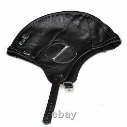 Fur Pilot Flight Cap Winter Man Genuine Pure Leather Windproof Motorcycle Helmet