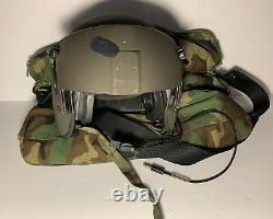 GENTEX HGU-56/P Modern Helicopter Pilot Flight Helmet Size Medium Used