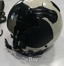 GENTEX HGU 68 P NAVY Pilot Flight Helmet with helmet bag Pre Owned