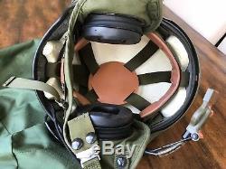 GENTEX SPH-4 PILOT HELICOPTER FLIGHT HELMET SPH4 & orig. Rare bungee PVS-5 NVG