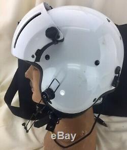GENTEX SPH-5 PILOT Helicopter Aircrew Flight Helmet size XL Used Dual lens Visor