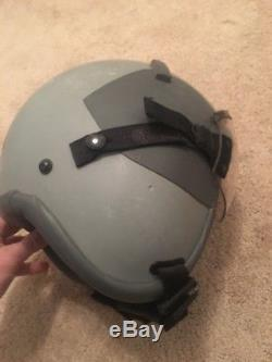 GENTEX US HGU-55/P Pilot Flight Helmet Size Large Vintage MBU Visor Zeta Earcups