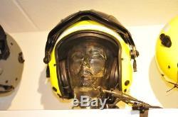 Gentex Alpha 100 flight helmet Hawkeye & helmet bag & Nomex pilot gloves