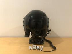 Gentex HGU-68/p pilot flight helmet. Medium dark visor