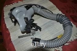 Gentex MBU-12/P USAF Pilot Flight Helmet Oxygen Mask with Hose 1989 90 91 Short