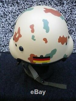 Gentex Pilot Flight Helmet HGU-39 size Extra Large Bundeswehr Tropenflecktarn