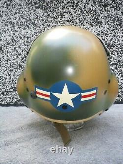 Gentex Pilot Flight Helmet HGU-39 size Regular S. E. A. Camouflage U. K. Tailcode