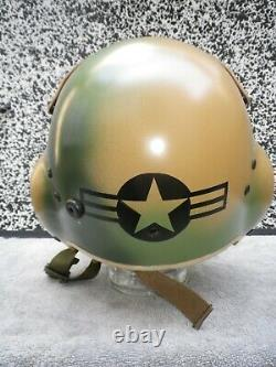 Gentex Pilot Flight Helmet HGU-39 size Regular S. E. A. Camouflage UH tailcode