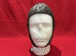 German Ww2 Luftwaffe Pilot Leather Hat Cap Helmet Prym Flight Pilots Hat Combat