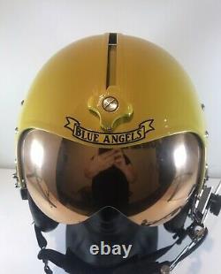 HGU 26/p original gentex pilot flight helmet painted as Replica Blue angels
