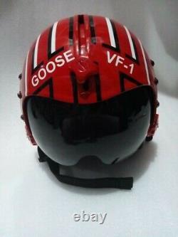 Hgu 33 Style Topgun Goose Flight Helmet / Aviator Fighter Pilot Repro