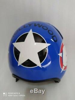 Hgu 33 Style Topgun Hollywood Flight Helmet / Aviator Fighter Pilot Repro