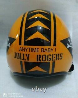 Hgu 33 Style Topgun Jolly Roger Flight Helmet / Aviator Fighter Pilot