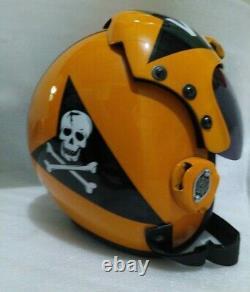 Hgu 33 Style Topgun Jolly Roger Flight Helmet / Aviator Fighter Pilot Repro