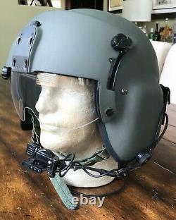 Hgu 56p Large Helicopter Pilot Flight Helmet With Lip Light Hgu56