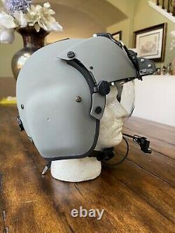 Hgu 56p Medium Helicopter Pilot Flight Helmet Mfs, Nvg, Lip Light Hgu56 Loaded