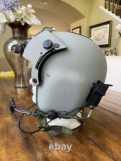 Hgu 56p Medium Helicopter Pilot Flight Helmet Nvg, Lip Light Hgu56 Loaded