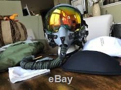 Hgu55 Gentex Flight Helmet Hgu 55/p Mbu12 Oxygen Mask Zeta MIC Pilot Bag