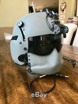 Hgu56 Gentex Flight Helmet Nvg, Mfs Shield Hgu 56p Helicopter Pilot Med Hgu-56