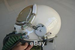 High Altitude Air Force MiG-19 Fighter Pilots Flight Helmet, Pressure ANti G suit