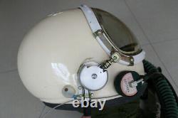 High Altitude Fighter Pilot Flight Helmet, Black Sun Visor, DC-3 flying suit