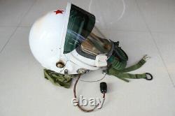 High Altitude MiG-21 Fighter Pilot Flight Helmet Black Sunvisor + DC-6 fly suit