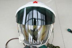 High altitude MiG-21 Fighter Pilot Flight Helmet Tk-1 Black Sunvisor