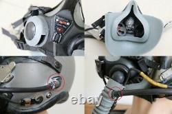 Korea fighter pilot HGU-55/P flight helmet (XLGE) + MBU-20 mask (medium)