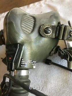MBU-12 Green 82 83 84 Oxygem Mask Fighter Pilot Air Force Flight Helmet