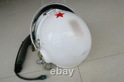 MIG-21 Fighter Pilot Flight Helmet Tk-1 Pull Down Black Sunvisor