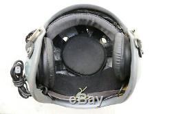 MIG Aviator Air Force Fighter Pilot Flight Helmet, Pull down sunvisor, Oxygen Mask