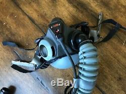 Mbu-20 Oxygen Mask For Hgu 55 Gentex Pilot Flight Helmet Xs Narrow Mbu20