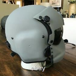 Medium Hgu56 Helicopter Pilot Flight Helmet Mfs Shield Hgu 56