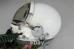 MiG Fighter Pilot Flight Flying Helmet, pull Down Black Sun visor, Flying Suit