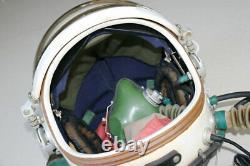MiG Fighter Pilot Flight Helmet(largest) + Life Saving Compensating Suit