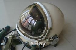 Militaria Aviation High Altitude Fighter Pilot Flight Helmet, Pressure Helmet
