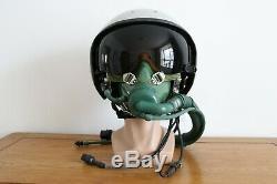 Militaria Aviator Air Force Fighter Pilot Flight Helmet, Aviation Flight Helmet