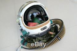 Militaria Aviator Air Force Fighter Pilot Flight Safety Helmet, Flight Suit