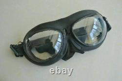 Militaria air force mig fighter pilot aviator leather aviation flight helmet
