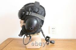 Militaria aircraft bomber fighter pilot leather flight helmet, dark brown goggles